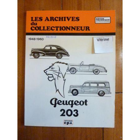 203 48-60 Revue Technique Les Archives Du Collectionneur Peugeot