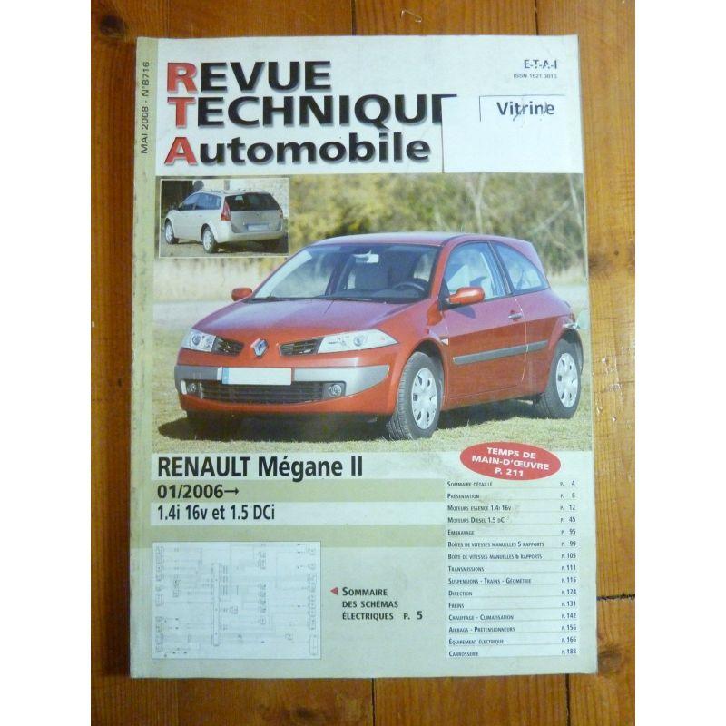 renault megane ii depuis 01 2006 essence 16v et diesel 1 5 dci. Black Bedroom Furniture Sets. Home Design Ideas
