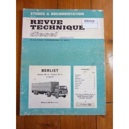 GR12 TR12 Revue Technique PL Berliet