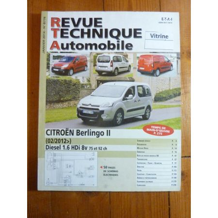 BERLINGO II 12- Revue Technique Citroen