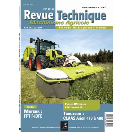 Arion 410-460 Revue Technique Agricole Claas