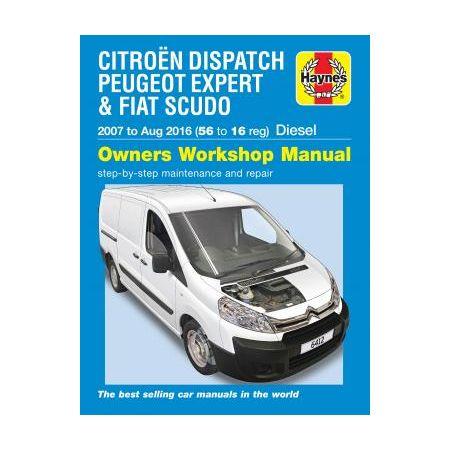 Expert Scudo Diesel 07-16 CITROEN PEUGEOT FIAT Anglais
