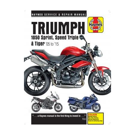 1050 Sprint ST, Speed Triple & Tiger 05 - 15 Manual TRIUMPH Anglais
