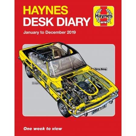 2019 Desk Diary Revue technique Haynes Anglais