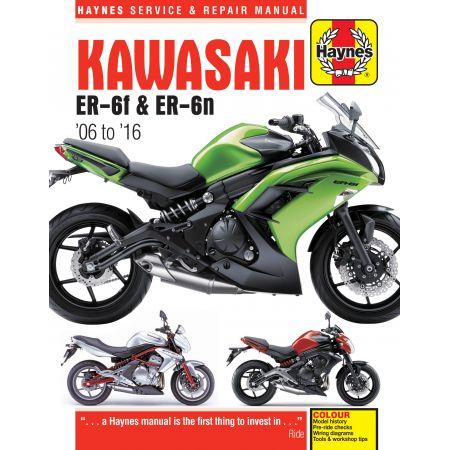 ER-6f ER-6n 06-16 Revue technique Haynes KAWASAKI Anglais