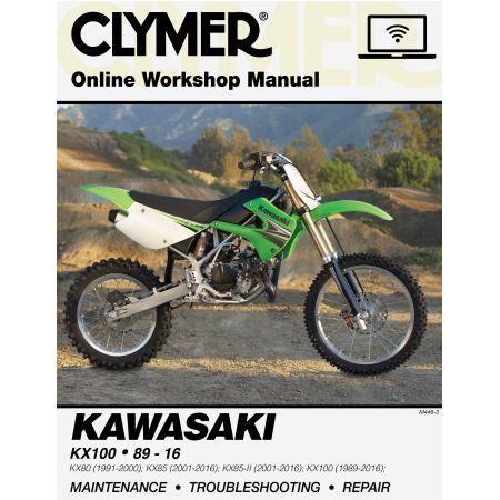 KX80 KX85 KX100 89- Revue technique Clymer KAWASAKI Anglais