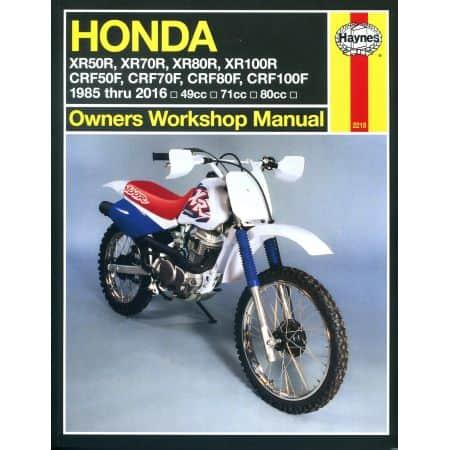 XR 50 70 80 100R CRF 85-16 Revue technique Haynes HONDA Anglais