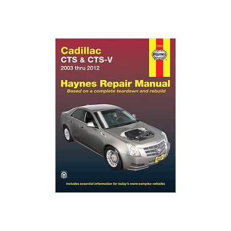 CTS and CTS-V 03-14 Revue technique Haynes CADILLAC Anglais