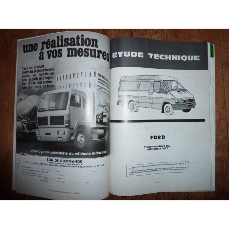 rta revue technique utilitaires ford transit mod les 86 utilitaire a0407. Black Bedroom Furniture Sets. Home Design Ideas