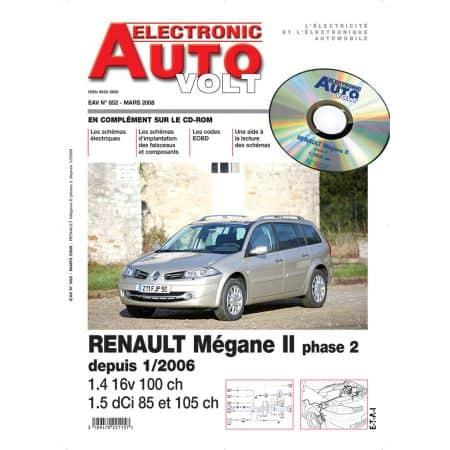 MEGANE II PH2+CC 01/06- 1,6 16V + 1,5 DCI Revue Technique Electronic Auto Volt RENAULT