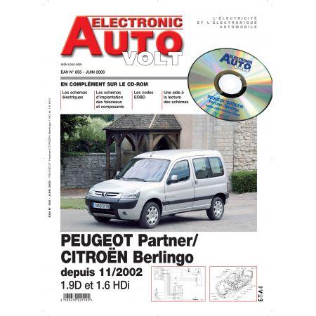 BERLINGO/PARTNER 11/02- DIES 1.6HDI ET 1.9D Revue Technique Electronic Auto Volt PEUGEOT-CITROEN