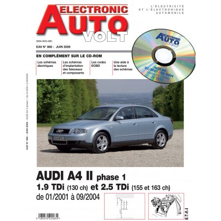 A4 II PH 1 01/2001-09/2004 1.9/2.5 TDI Revue Technique Electronic Auto Volt AUDI