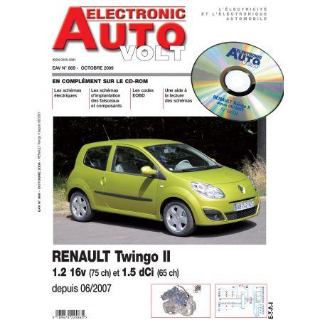 TWINGO II 06/2007- ESS 1.2 + 1.5 DCI  Revue Technique Electronic Auto Volt RENAULT