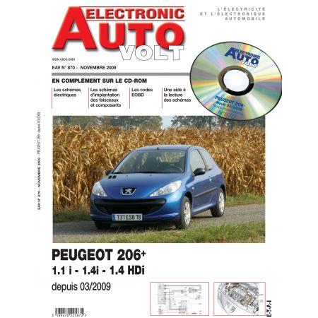 206+ ESS 1.1/1.4 + 1.4 HDI 03/2009- Revue Technique Electronic Auto Volt PEUGEOT