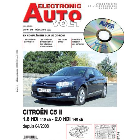 C5 II 04/2008- 1.6/2.0 HDI Revue Technique Electronic Auto Volt CITROEN
