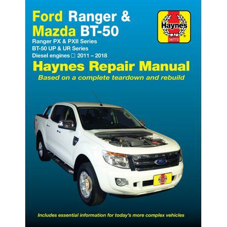 Ranger BT-50 11-17 Revue technique Haynes FORD MAZDA Anglais