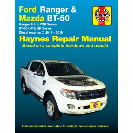 Ranger BT-50 11-17 Revue technique Haynes FORD MAZDA Anglais