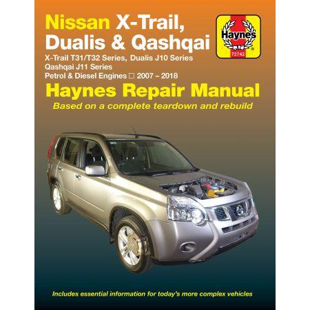 X-Trail 07 - 18 Dualis 07-14 Qashqai 14-18 Revue technique Haynes NISSAN Anglais