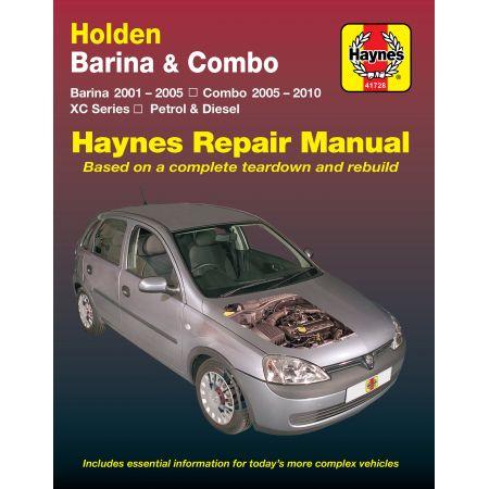Barina XC Combo 00 - 06 Revue technique Haynes HOLDEN Anglais
