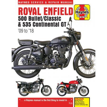 Bullet / Classic09 - 18 Revue technique Haynes Roal enfieldAnglais
