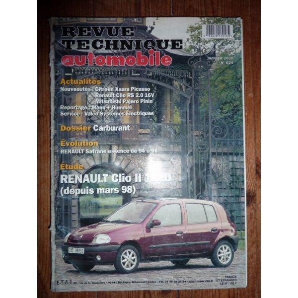 rta revue technique renault clio ii diesel depuis mars 1998. Black Bedroom Furniture Sets. Home Design Ideas