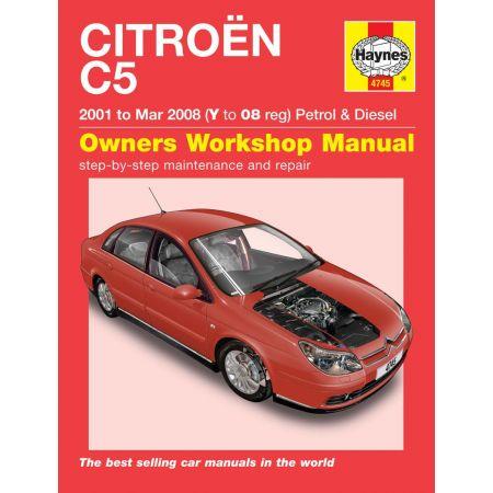C5 01-08 Revue technique Haynes CITROEN Anglais