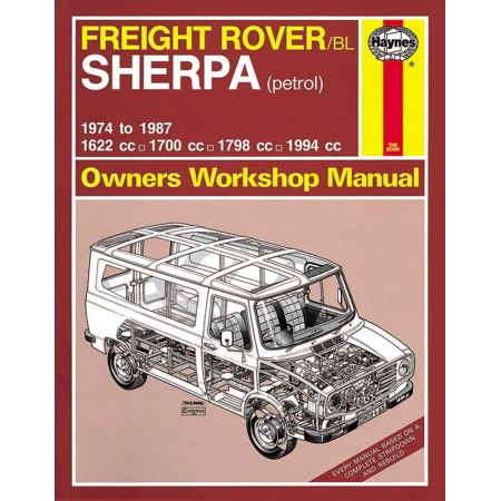 SHERPA 74-87 Revue technique Haynes ROVER Anglais