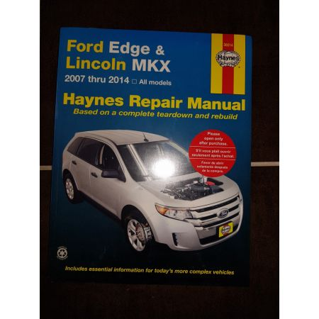Edge MKX 07-14 Revue technique Haynes FORD LINCOLN Anglais