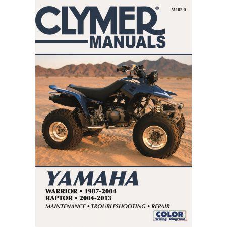 Warrior RAptor 87-13 Revue technique Clymer YAMAHA Anglais