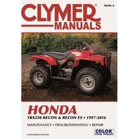 TRX250 Recon ES 97-16 Revue technique Clymer HONDA Anglais