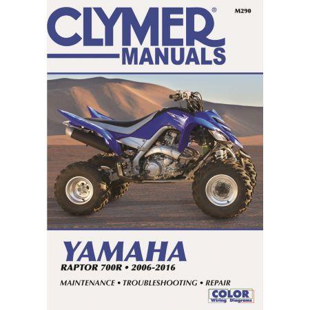 Raptor 700R 06-16 Revue technique Clymer YAMAHA Anglais