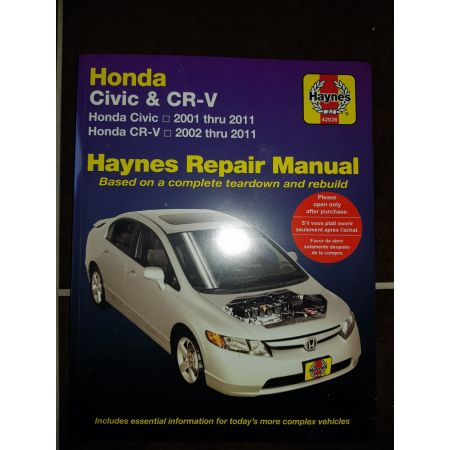 Civic - CR-V 02-11 Revue technique Haynes HONDA Anglais
