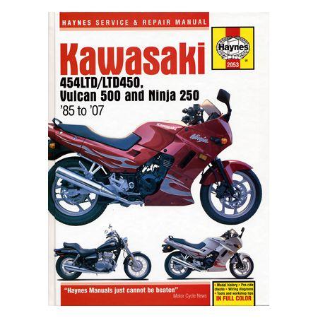 454LTD, VULCAN 500 & NINJA 2 85-07 Revue technique haynes KAWASAKI anglais