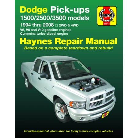 RAM PICK-UPS 94-08 Revue Technique Haynes DODGE Anglais