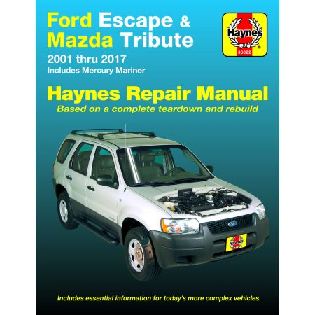 ESCAPE -TRIBUTE 01-17 Revue Technique Haynes FORD MAZDA Anglais