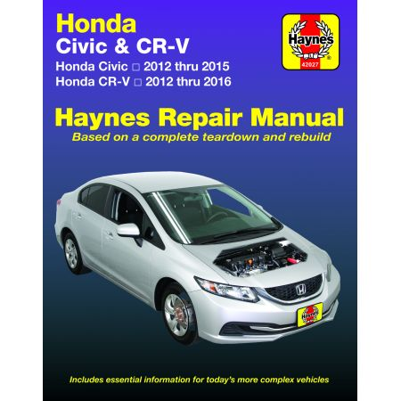 CIVIC & CR-V 12-16 Revue Technique Haynes HONDA Anglais