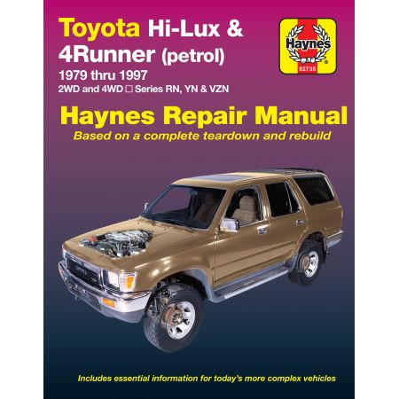 HILUX AND 4 RUNNER 79-97 Revue Technique Haynes TOYOTA Anglais