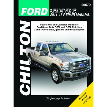 SUPER DUTY P/UP 11-16 Revue Technique Chilton FORD Anglais