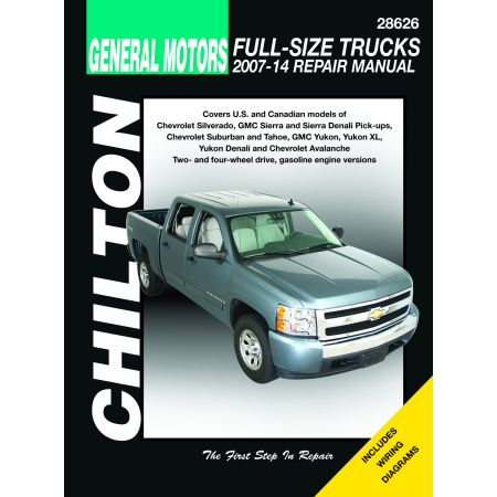 PICK-UP 07-14 Revue Technique Chilton CHEVROLET Anglais