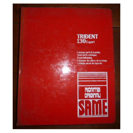 TRIDENT 130 EXPORT Catalogue pieces Same Italien