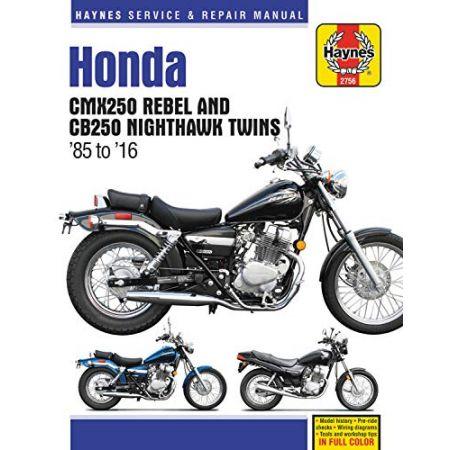 CMX250 CB250 85-16 Revue technique Haynes HONDA Anglais