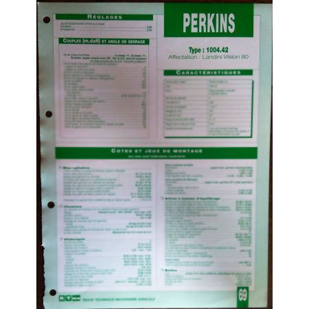 1004.42 Fiche Technique Perkins