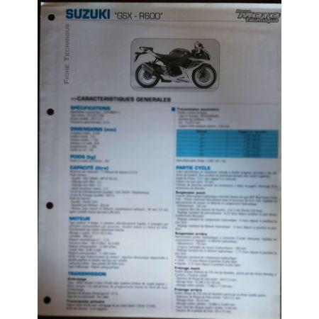 GSX600R Fiche Technique Suzuki