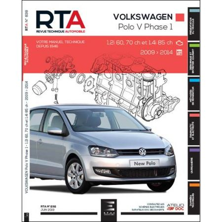 POLO V (6R) PHASE 1 3P 09-14 Revue Technique VW