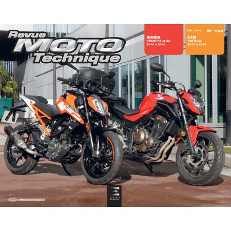 DUKE 125 & CB500 FA- XA-RA - Revue Technique HONDA KTM