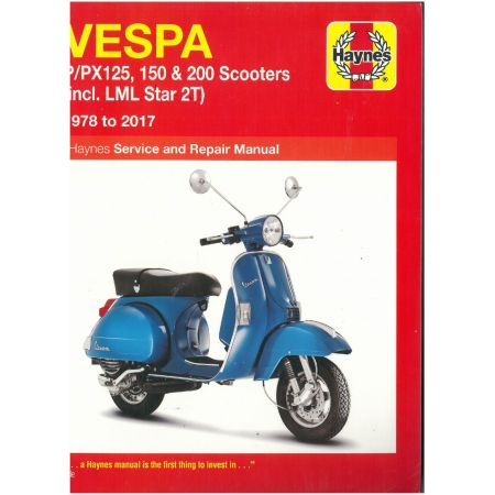 P PX 125 150 and 200 Revue technique Haynes VESPA Anglais