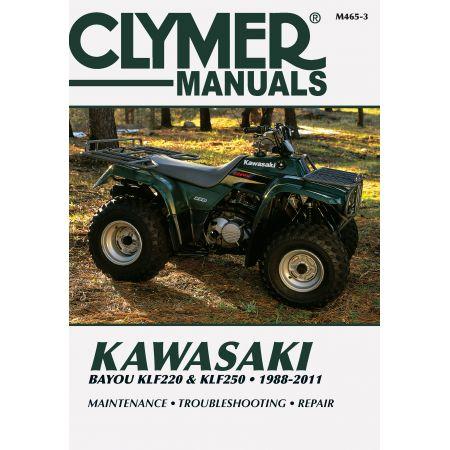 Bayou KLF220 KLF250 88-10 Revue technique Clymer KAWASAKI Anglais