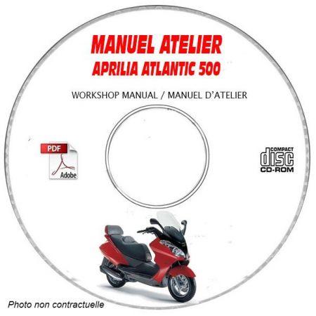 ATLANTIC 500 -02 Manuel Atelier CDROM APRILIA Anglais