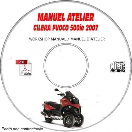 FUOCO 500 ie Edition -13 Manuel Atelier CDROM GILERA FR