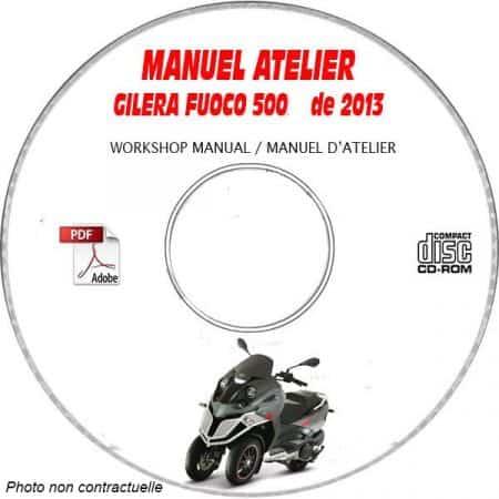 FUOCO 500 07 Manuel Atelier CDROM GILERA Revue technique